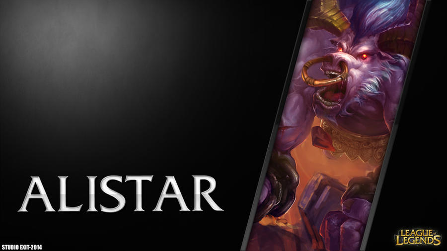 wallpaper alistar league of legends by blackadracstar on