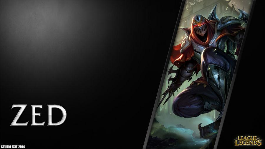 Wallpaper Zed League Of Legends By Black Adrac Star On