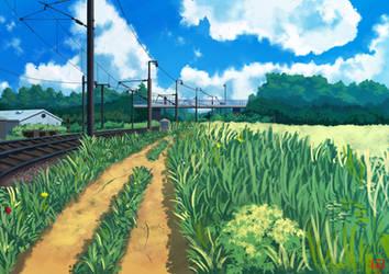 Le chemin de fer by Black-adrac-star