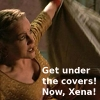 Gab Wants Xena Under Covers by demoka