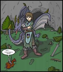 Giantess Knight by AmyGiantess
