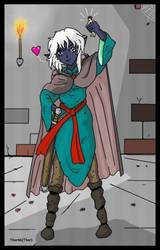 Giantess Dark Elf Hero Saves Tiny by AmyGiantess