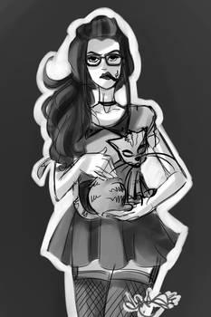 A modern cat lady