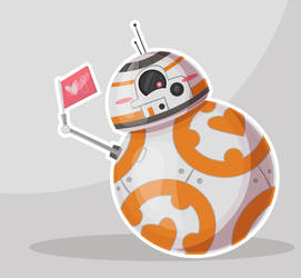 BB8 Valentine Fan Art