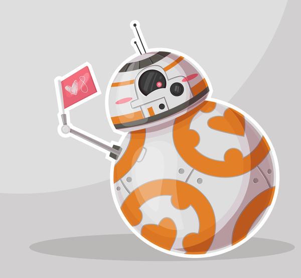 BB8 Valentine Fan Art by dikka