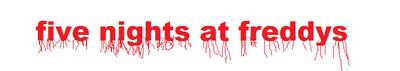 Five Nights At Freddys Logo by bonbon2131
