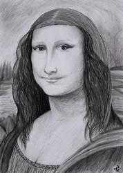 Mona Lisa, La Gioconda (Bad pencil cover) by Zahorbenskyi