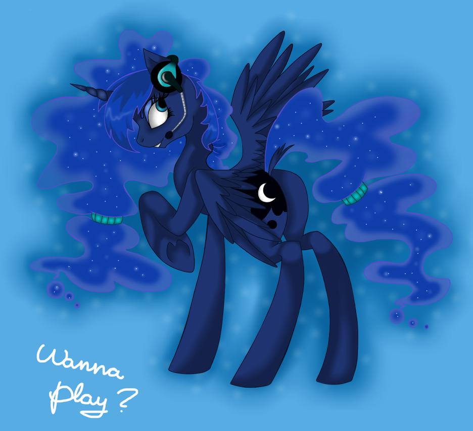 Gamer Luna by HarmoniousRain