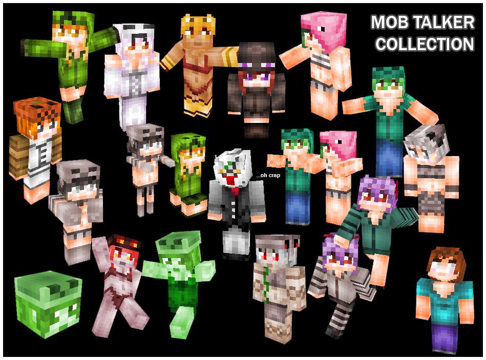 Minecraft Mob Talker Mod Skin Collection By Banchouforte On DeviantArt - Mob skins fur minecraft