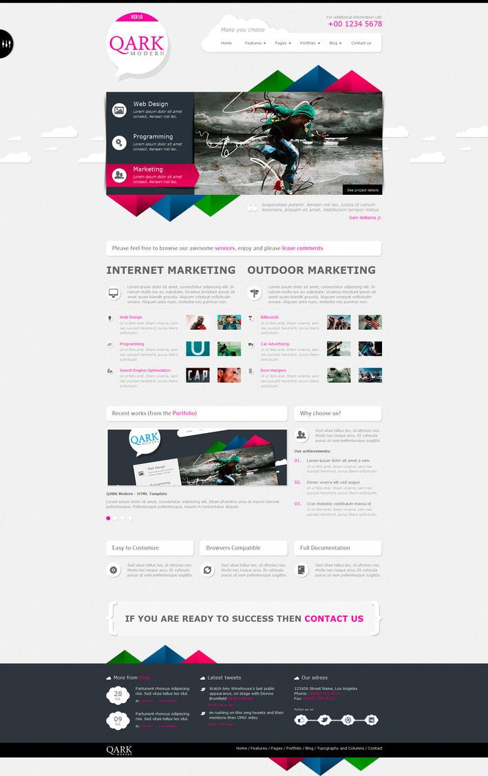 QARK Modern - HTML Template by OrangeIdea