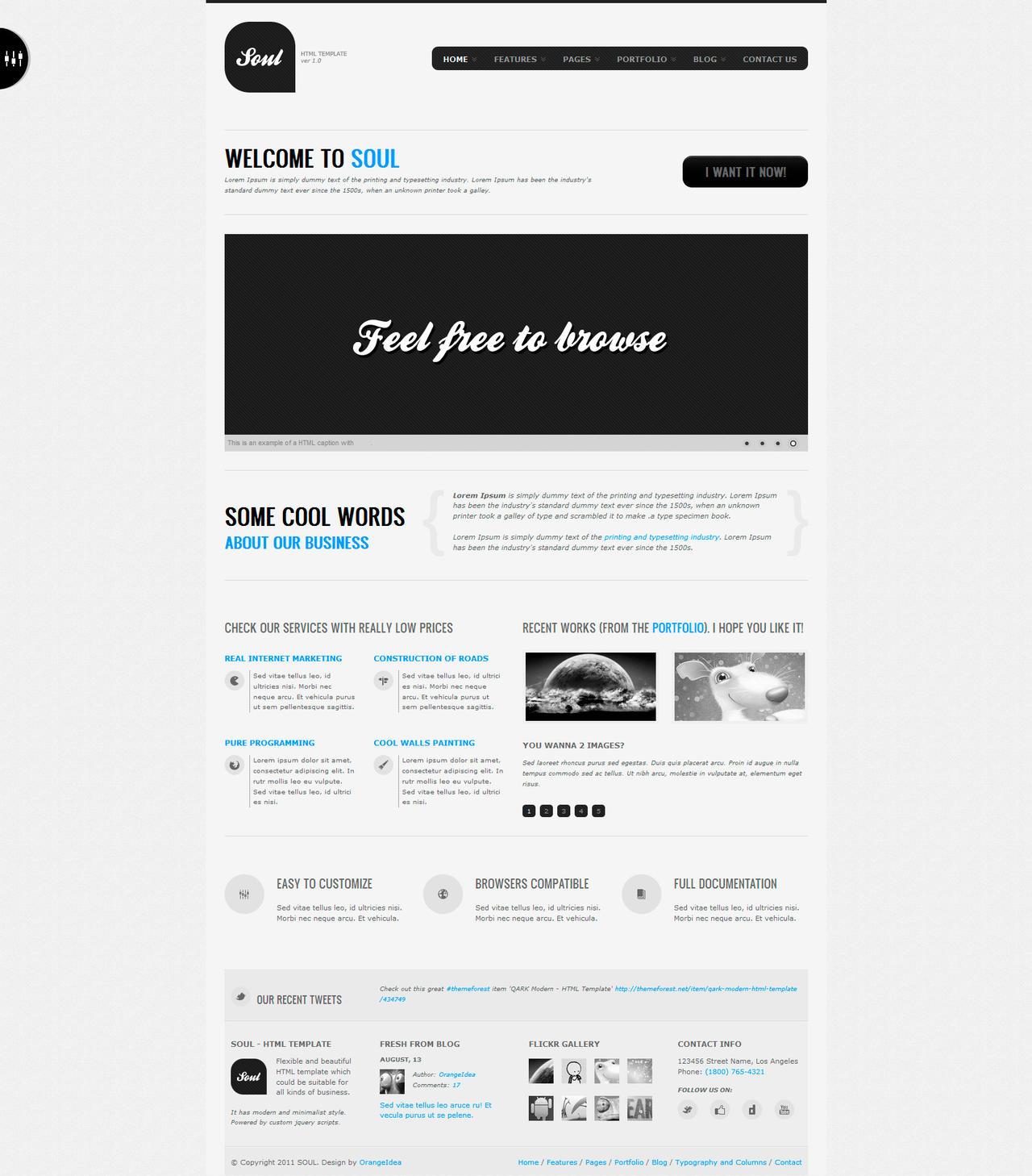SOUL - Premium HTML Template by OrangeIdea
