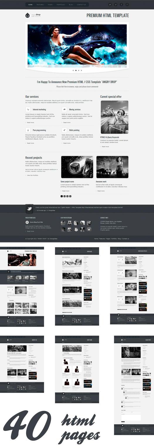 ANGRY DROP - Premium HTML by OrangeIdea