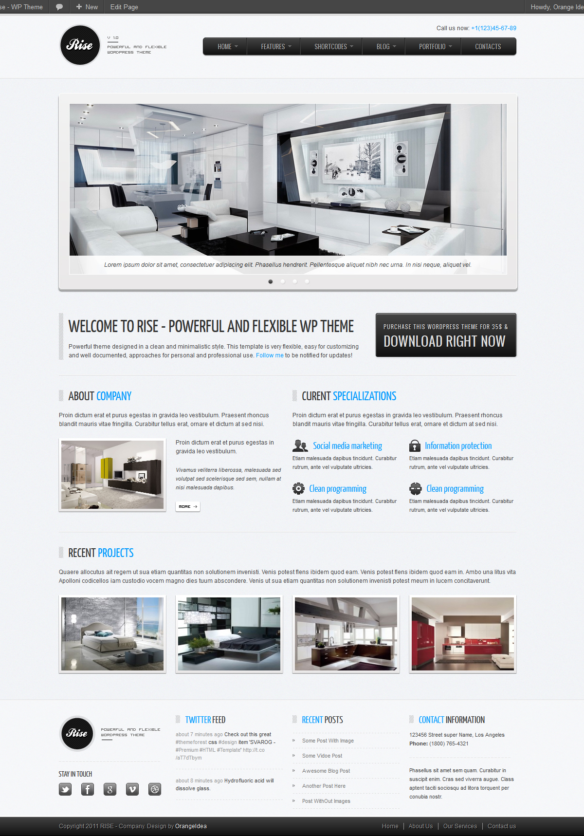 RISE - Premium WordPress Theme