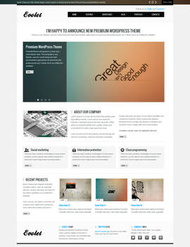 EVOLET - Premium WordPress Theme