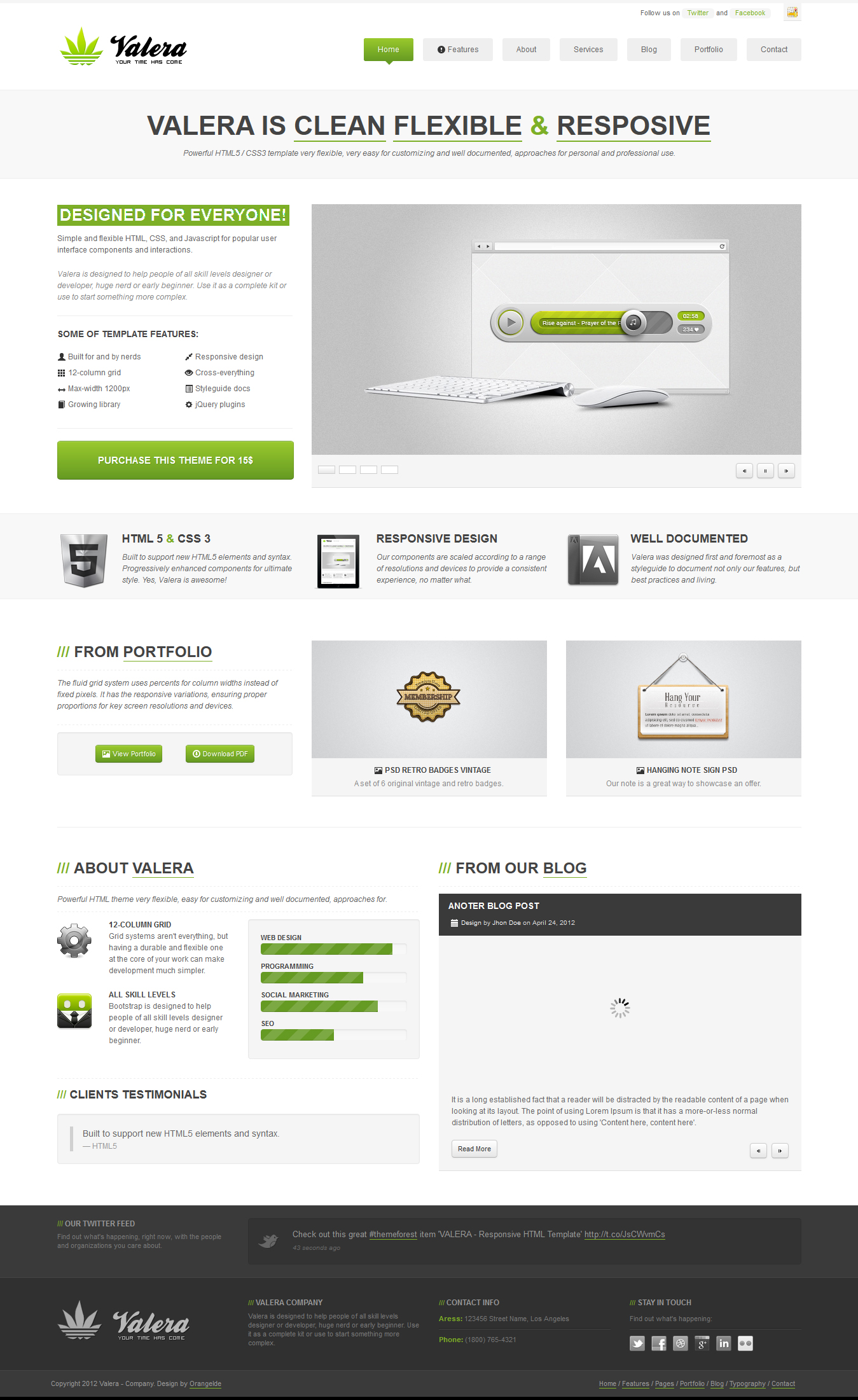 valera responsive html template by orangeidea on deviantart. Black Bedroom Furniture Sets. Home Design Ideas