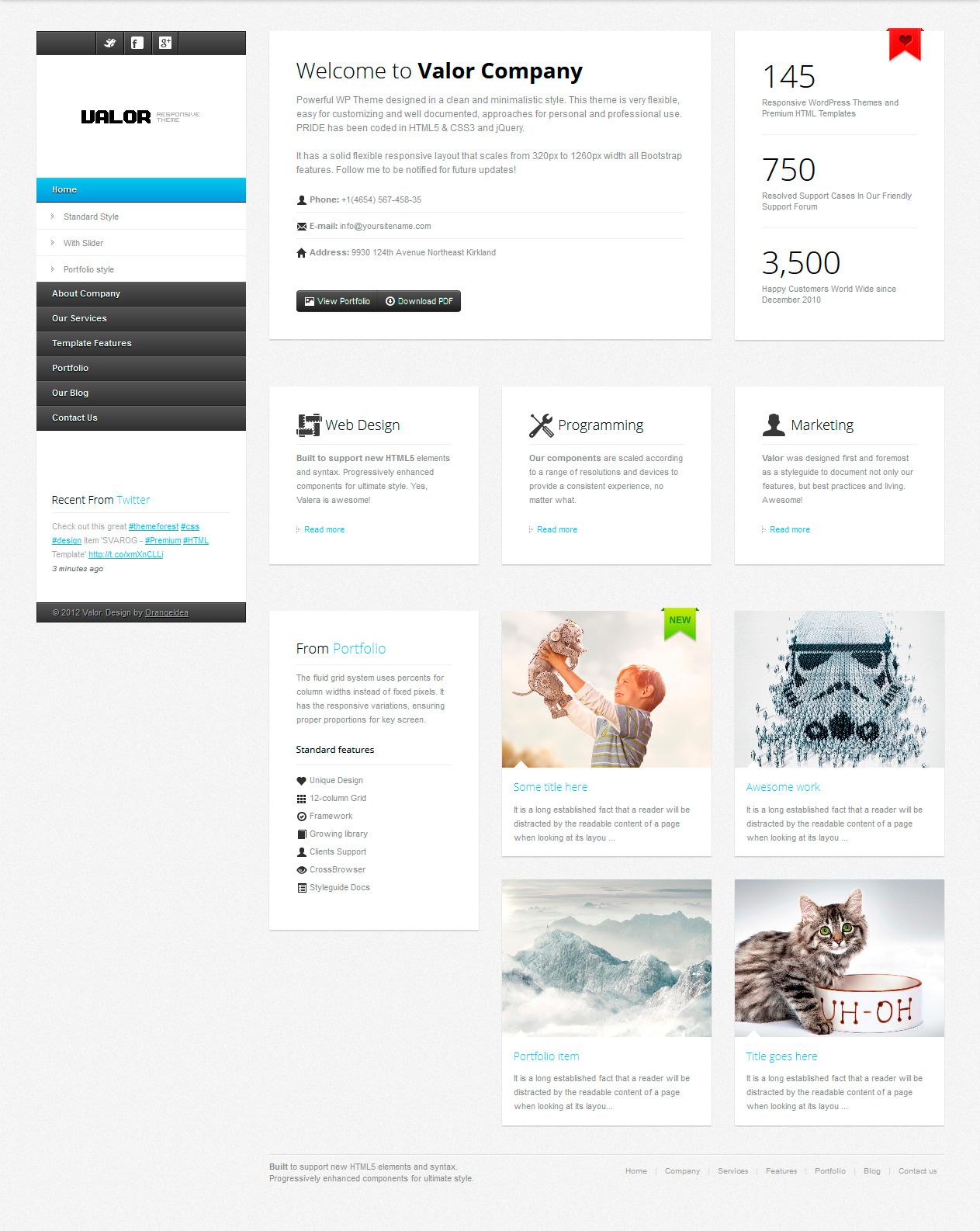 VALOR - Responsive HTML Template by OrangeIdea