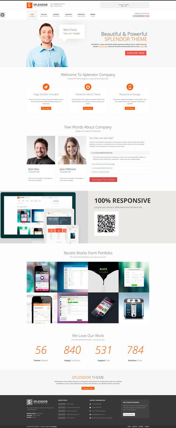 Splendor - Premium Corporate / eCommerce WP Theme by OrangeIdea