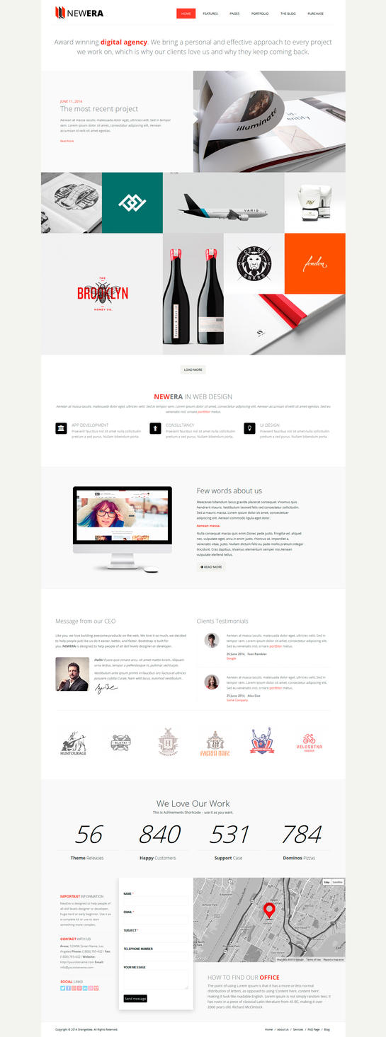 NewEra Wordpress theme by OrangeIdea