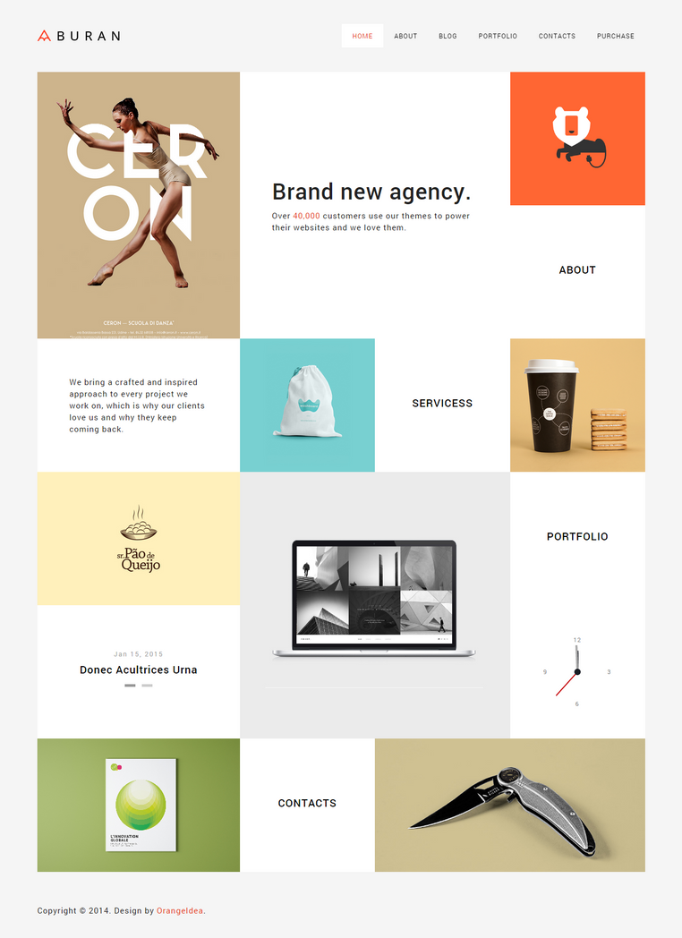 BURAN - Smart Portfolio and Business Theme by OrangeIdea