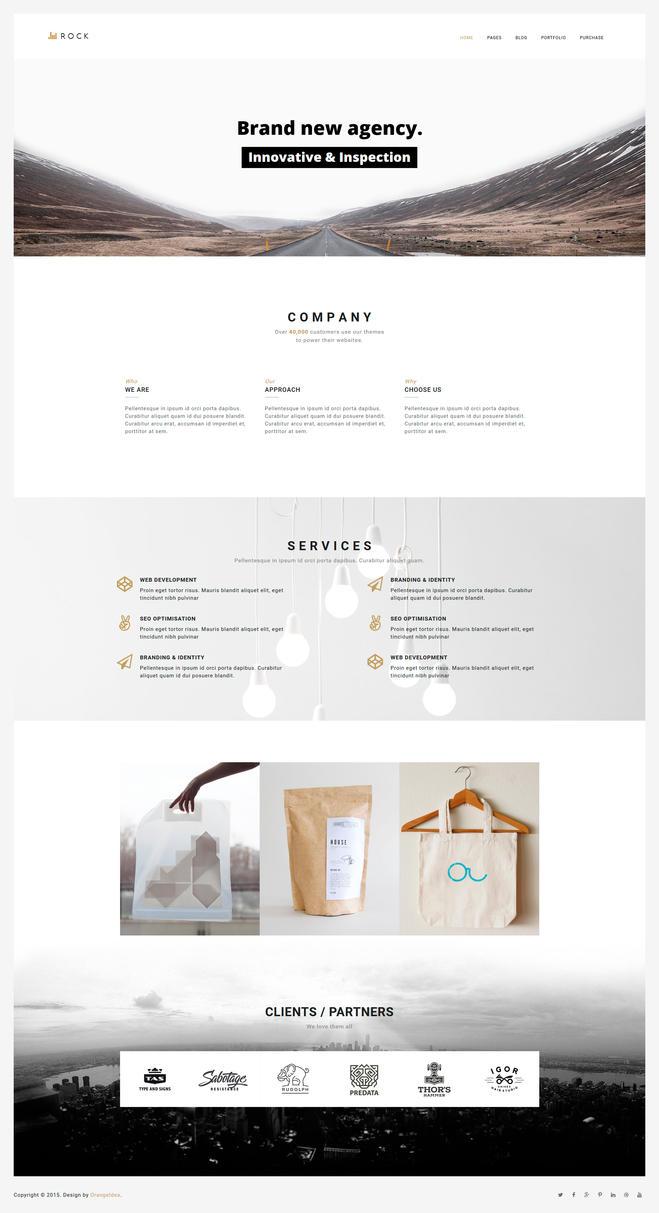 ROCKFOLIO - Portfolio Agency WorordPress Theme by OrangeIdea