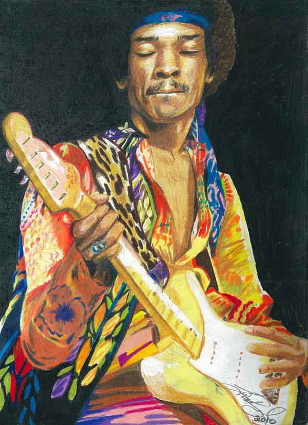 Jimi Hendrix by LeelaB