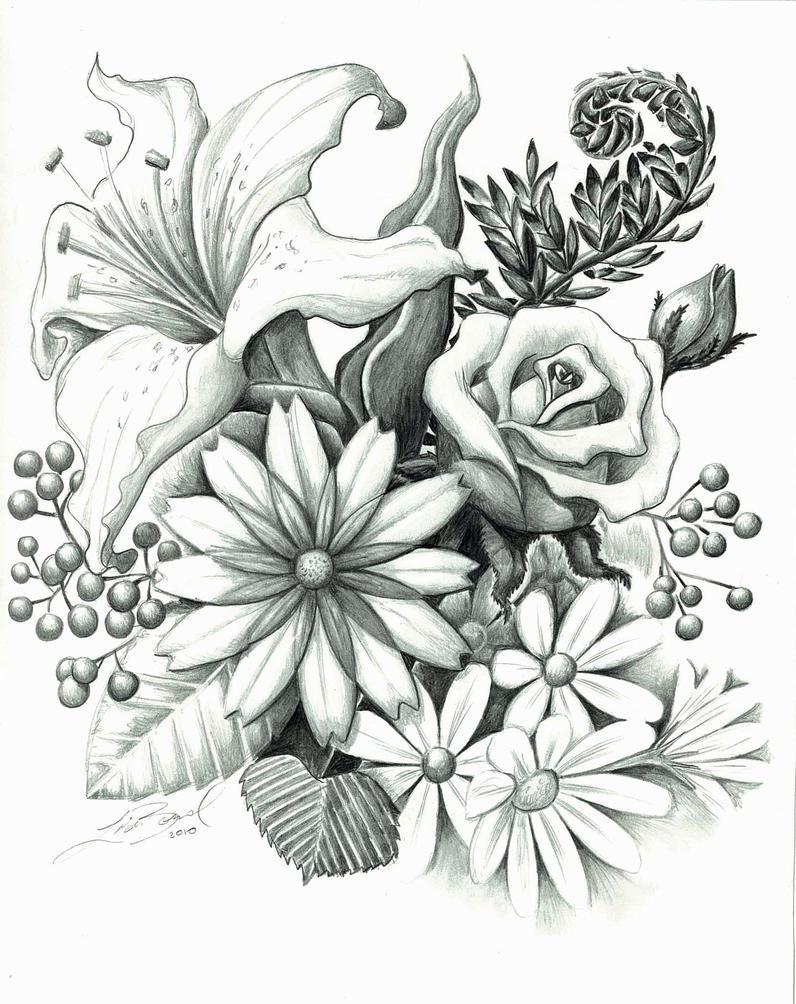 Line Drawings Of Flower Arrangements : Pocket watch tattoo drawings flowers sketch coloring page