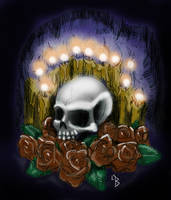 Skull Sketch 2 by LeelaB