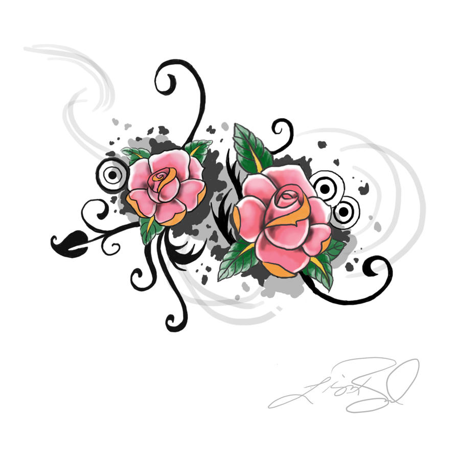 tattoos with names and flowers lettering tattoo
