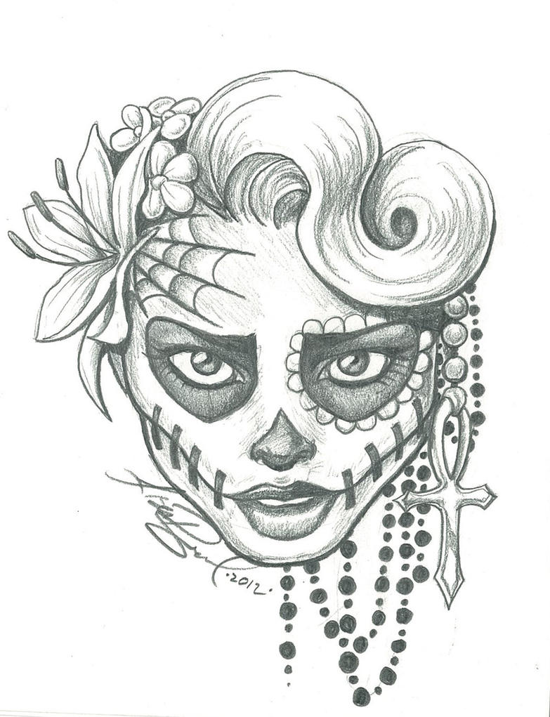 Sugar Skull Girl Drawings Tumblr