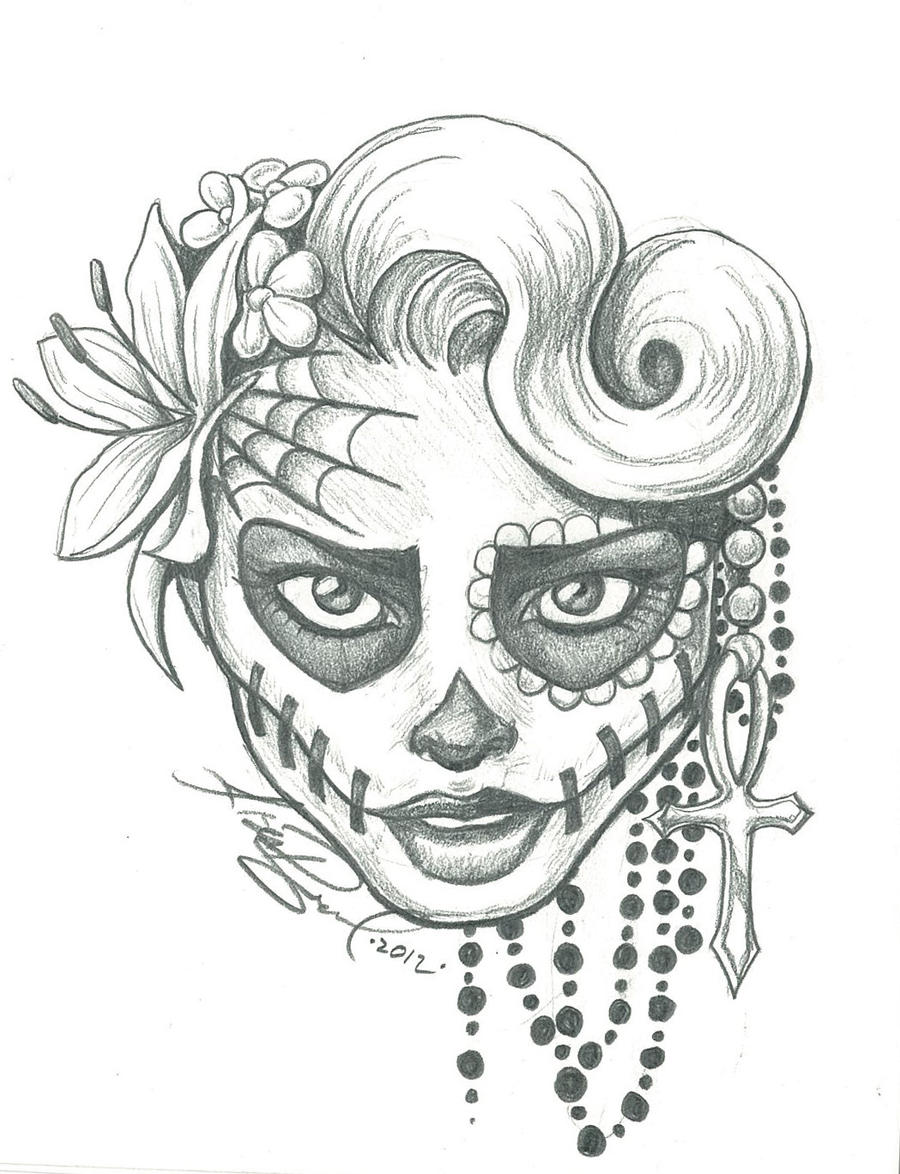 sugar skull designs coloring pages - photo#19