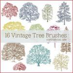 Vintage Tree Brushes
