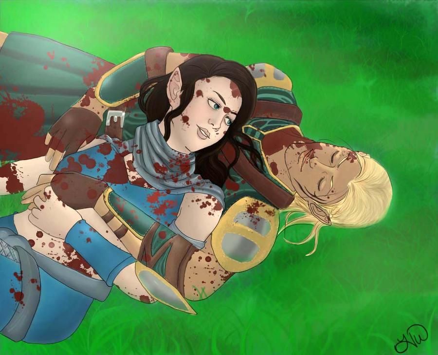 Zevran And Katriel Gory Mess