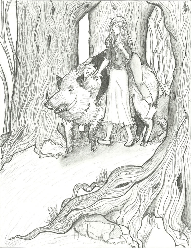 Forest Travelers by watersrain