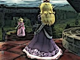 Peach vs Shadow Queen Peach SSBB by agentbananayum