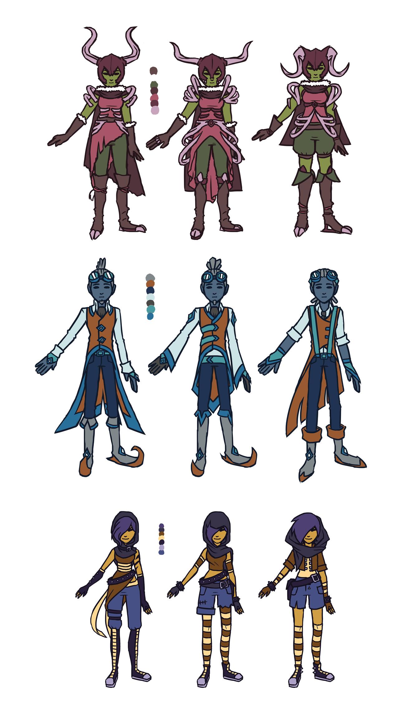 Character Design Set : Zodiac character design set by greenmangos on deviantart