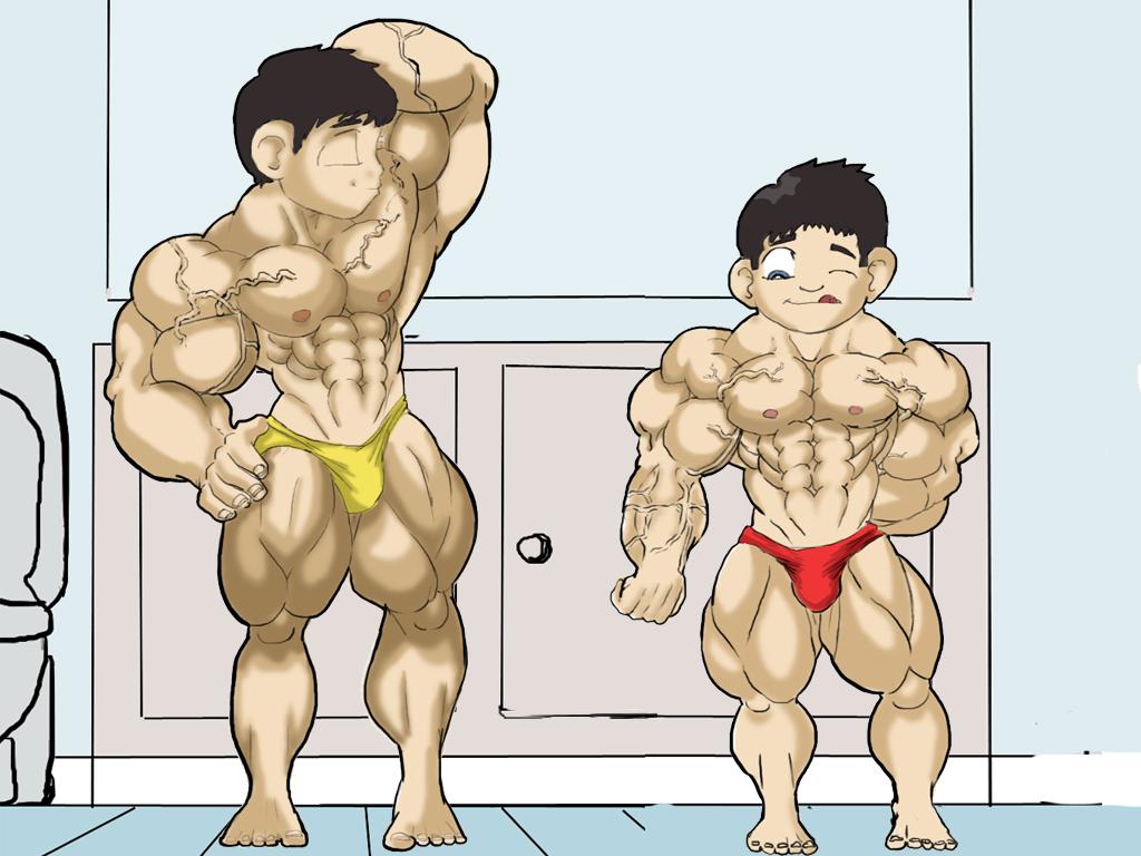 Bros flexing together by hearmenowu2