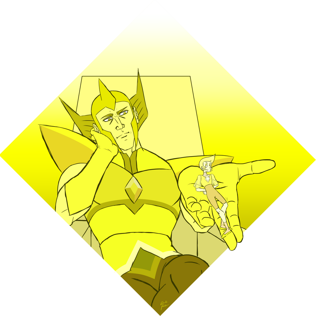 Yellow Diamond and His Pearl