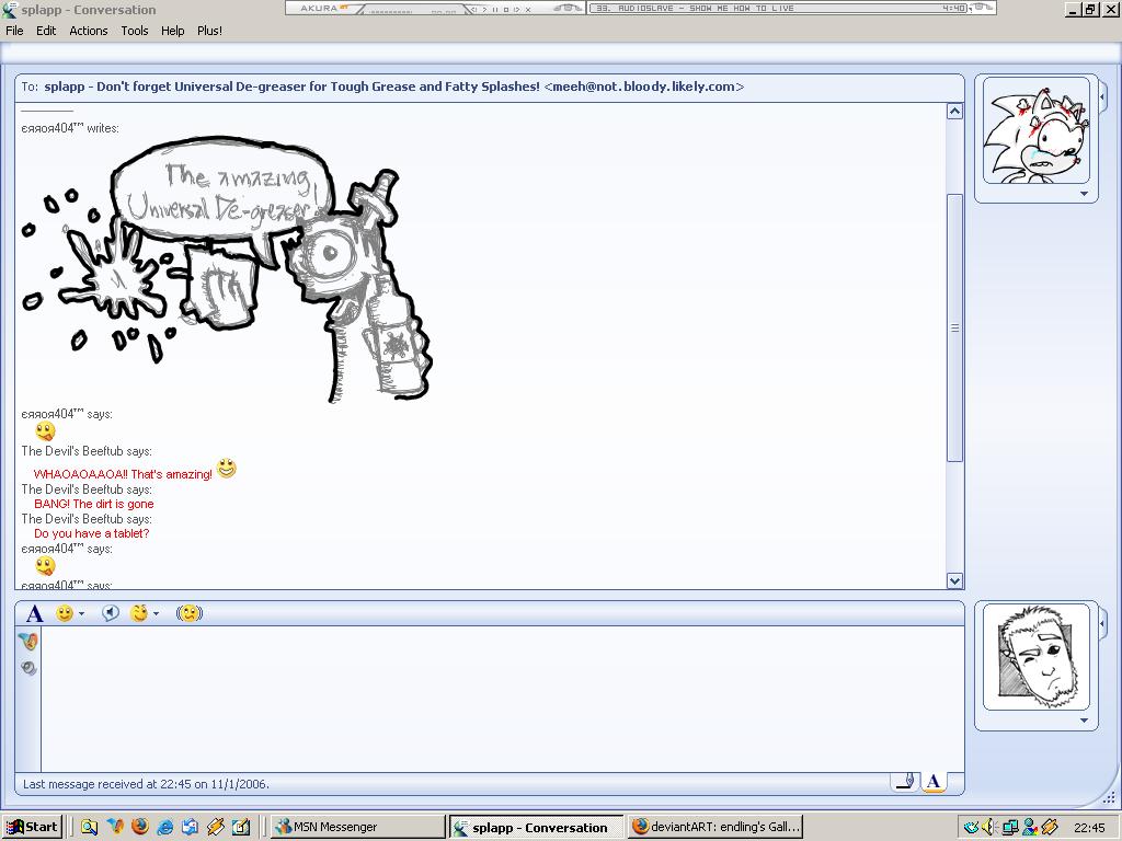 MSN:Universal De-greaser by the-error404