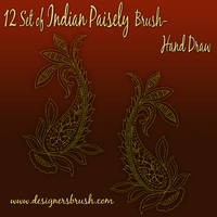 Indian Paisely Brush by designersbrush