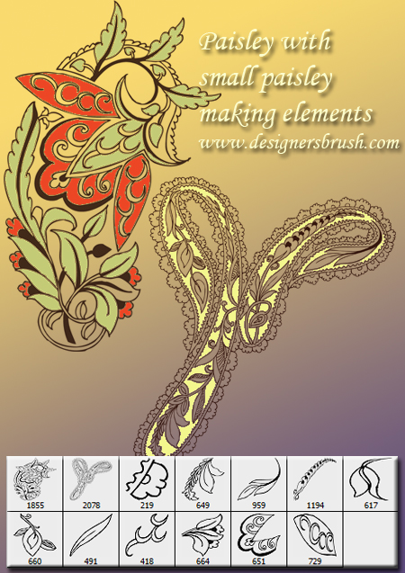 Paisley decoration by designersbrush