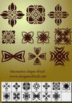 Decorative shapes brush