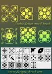 Arabric design motif brush