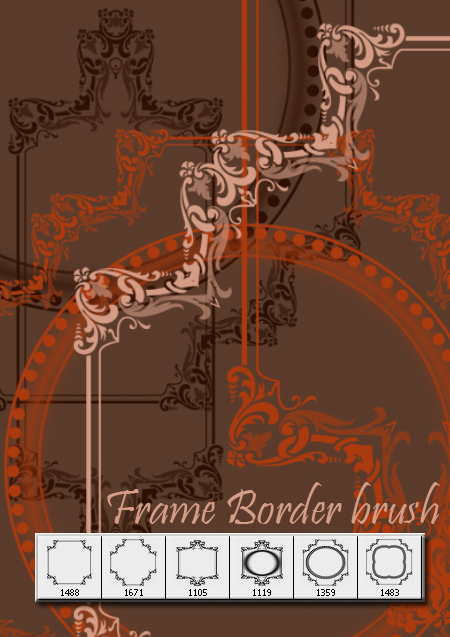 Decorative frame brush by designersbrush
