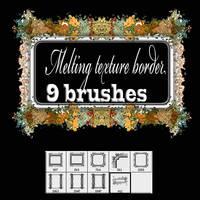 Melting texture- border brush by designersbrush