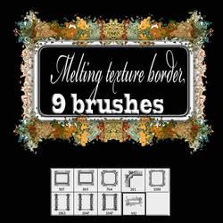 Melting texture- border brush