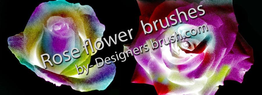 Rose flower brushes