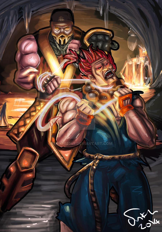 Akuma Vs Scorpion by sukh12345 on DeviantArt