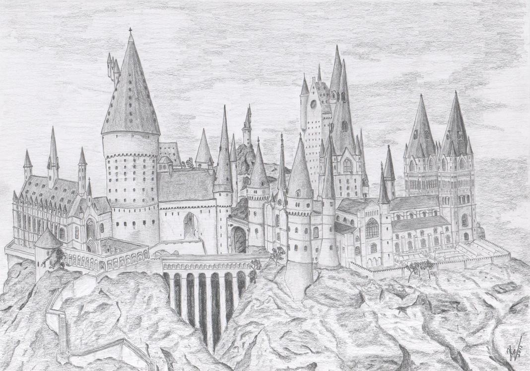 harry potter castle coloring pages - photo#10