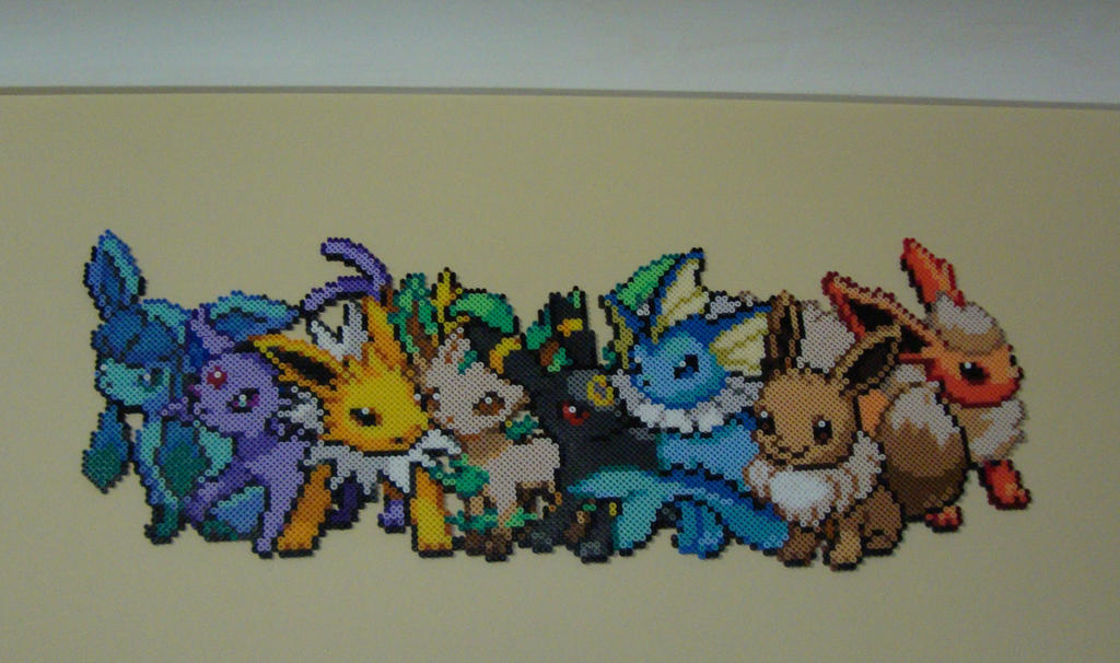Eeveelutions (pre Sylveon) by cardinalchang