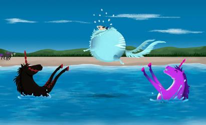 [Quirlicorns] Achoo's unfortunate beach party